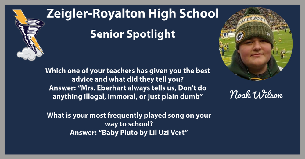 Week of 11/16/20 Senior Spotlight: Noah Wilson