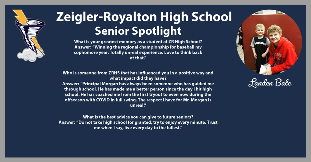 Week of 11/30/20 Senior Spotlight: Landen Bate